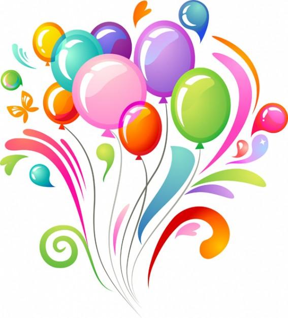Happy Birthday Balloons Clip Art Free N37 free image.