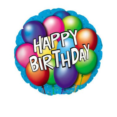 Happy Birthday Mylar Balloon.