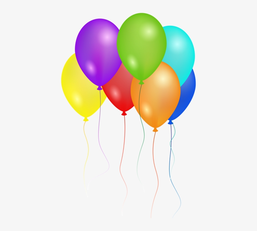 Birthday Party Balloons Png Image.