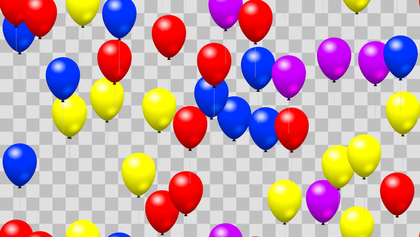 Party Birthday Balloons Seamless Loop Stock Footage Video (100%  Royalty.