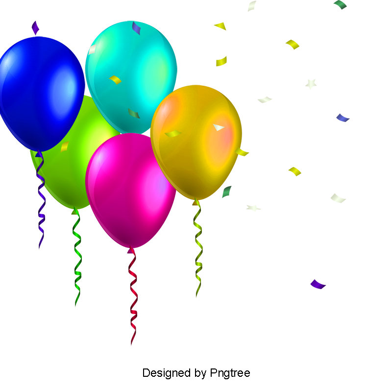 Birthday Balloons PNG Images.
