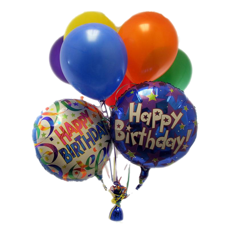 Happy Birthday Balloons PNG Transparent Images.