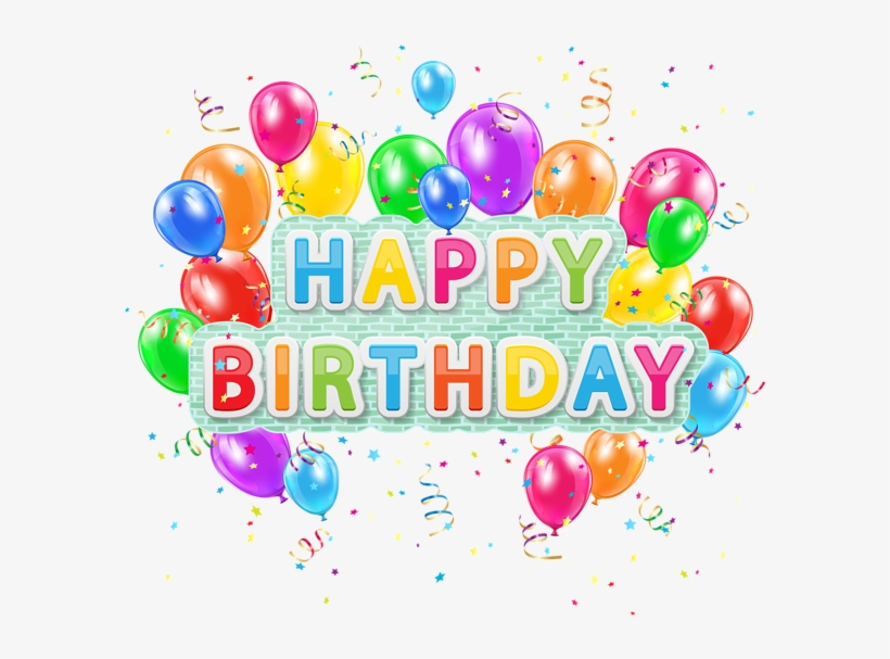 Colorful Happy Birthday Png Image Background.
