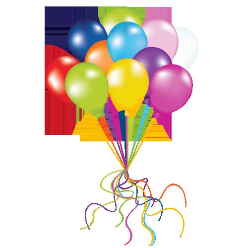 Birthday Balloons PNG Image.