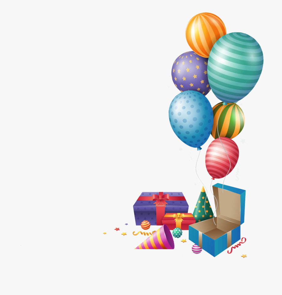 Happy Birthday Png Balloons Gift.