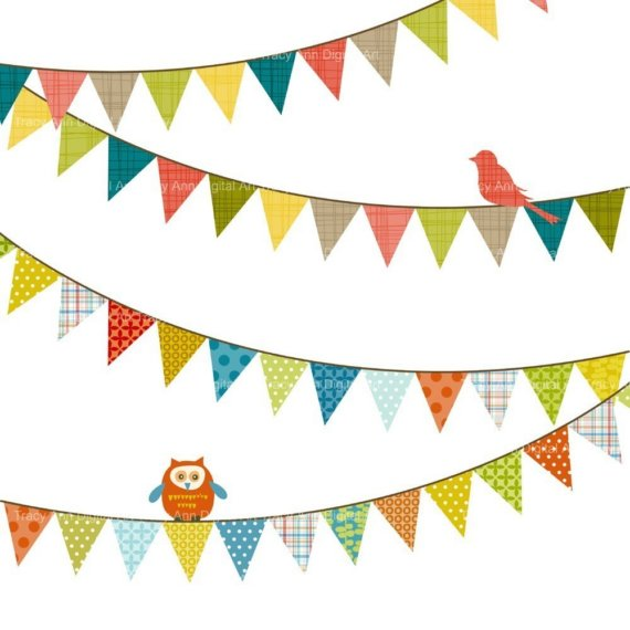Happy Birthday Banner Clip Art.