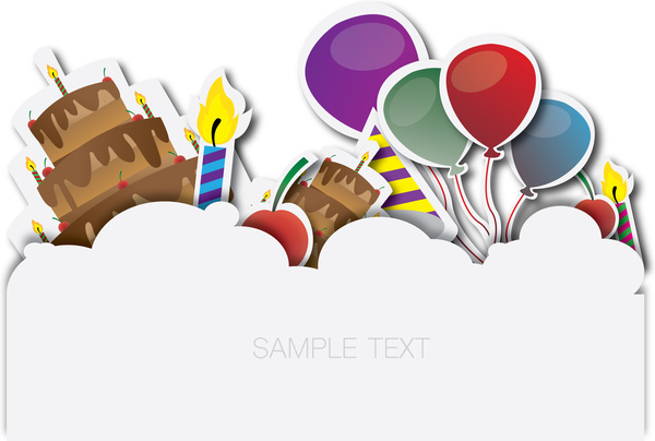 Happy birthday banner Free vector in Adobe Illustrator ai.