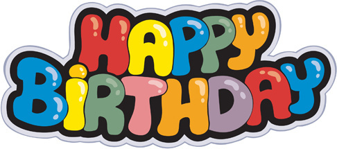Happy birthday banner clipart free vector download.