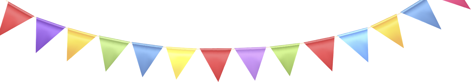Happy Birthday Banner PNG Transparent Images.