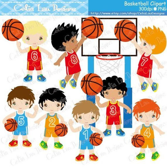 Basketball Clipart / Basketball Birthday Party clip art.