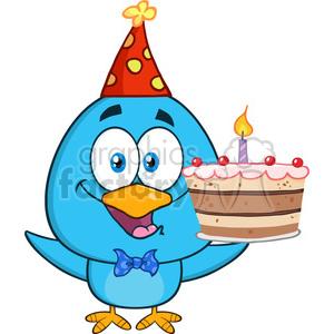 Happy Birthday Bird Clipart.