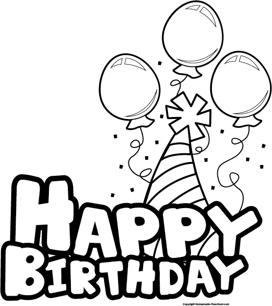 Free Birthday Cliparts Black, Download Free Clip Art, Free.