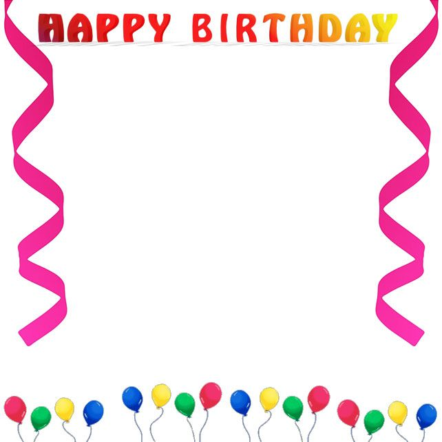 Happy Birthday Border Clip Art Free.