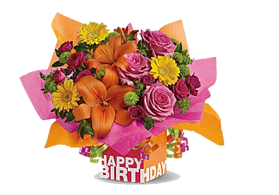 Birthday Flower Bouquet Clipart.