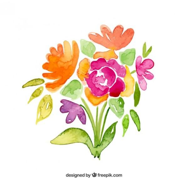 Birthday flower bouquet clipart.