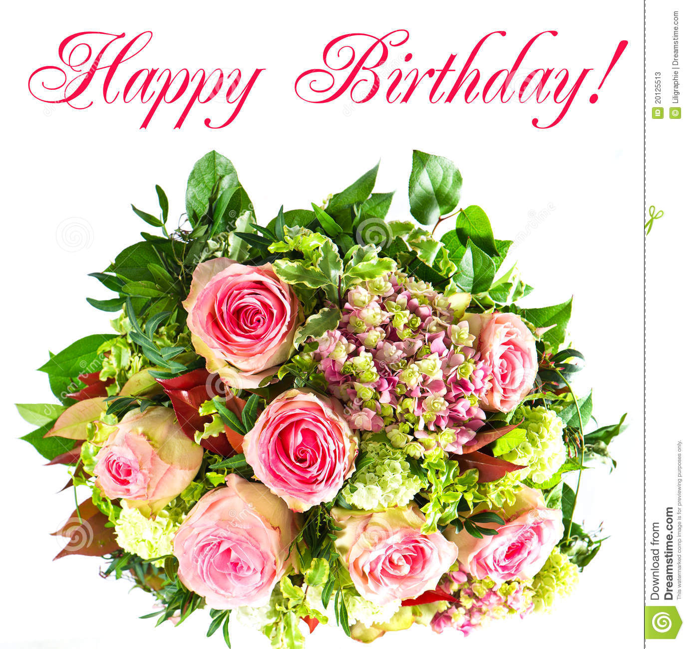 Birthday Bouquet Clipart.
