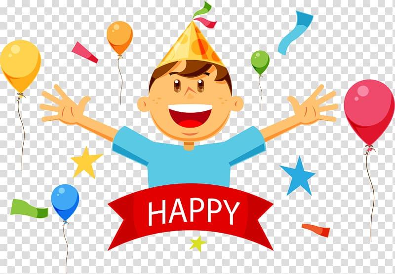 Happy birthday greeting illustration, Birthday cake Happy Birthday.
