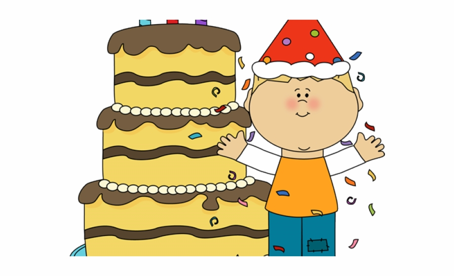 Boy Birthday Cake Clip Art.