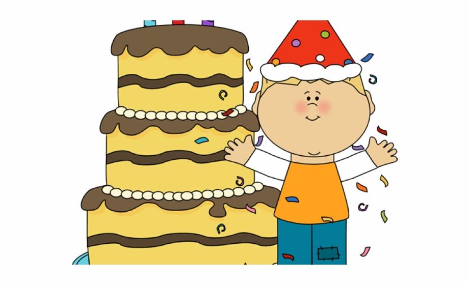 Boy Birthday Cake Clip Art.