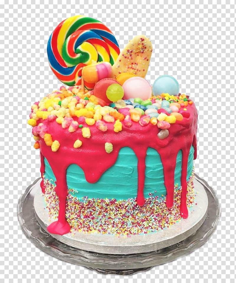 Birthday cake Torte Dripping cake Ice cream cake, cake transparent.