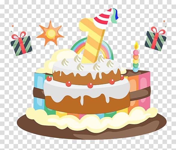 Birthday cake Cupcake Ice cream cake , Birthday Cake transparent.