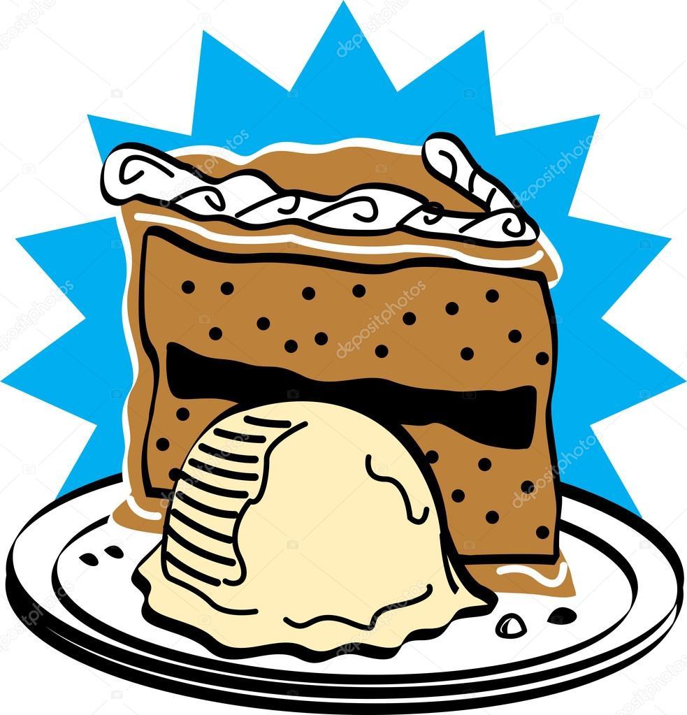 Clipart: cake and ice cream.