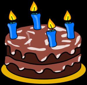 Birthday Cake Four Candles Clip Art at Clker.com.