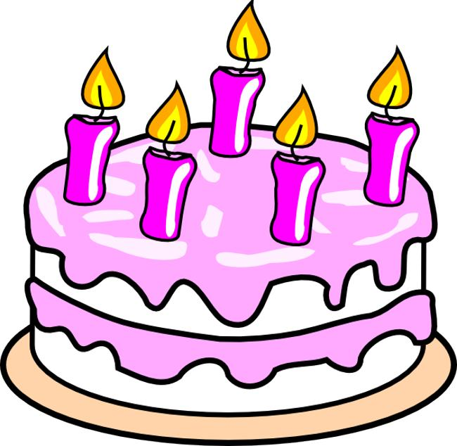 70 Birthday Cake Candles Clipart.