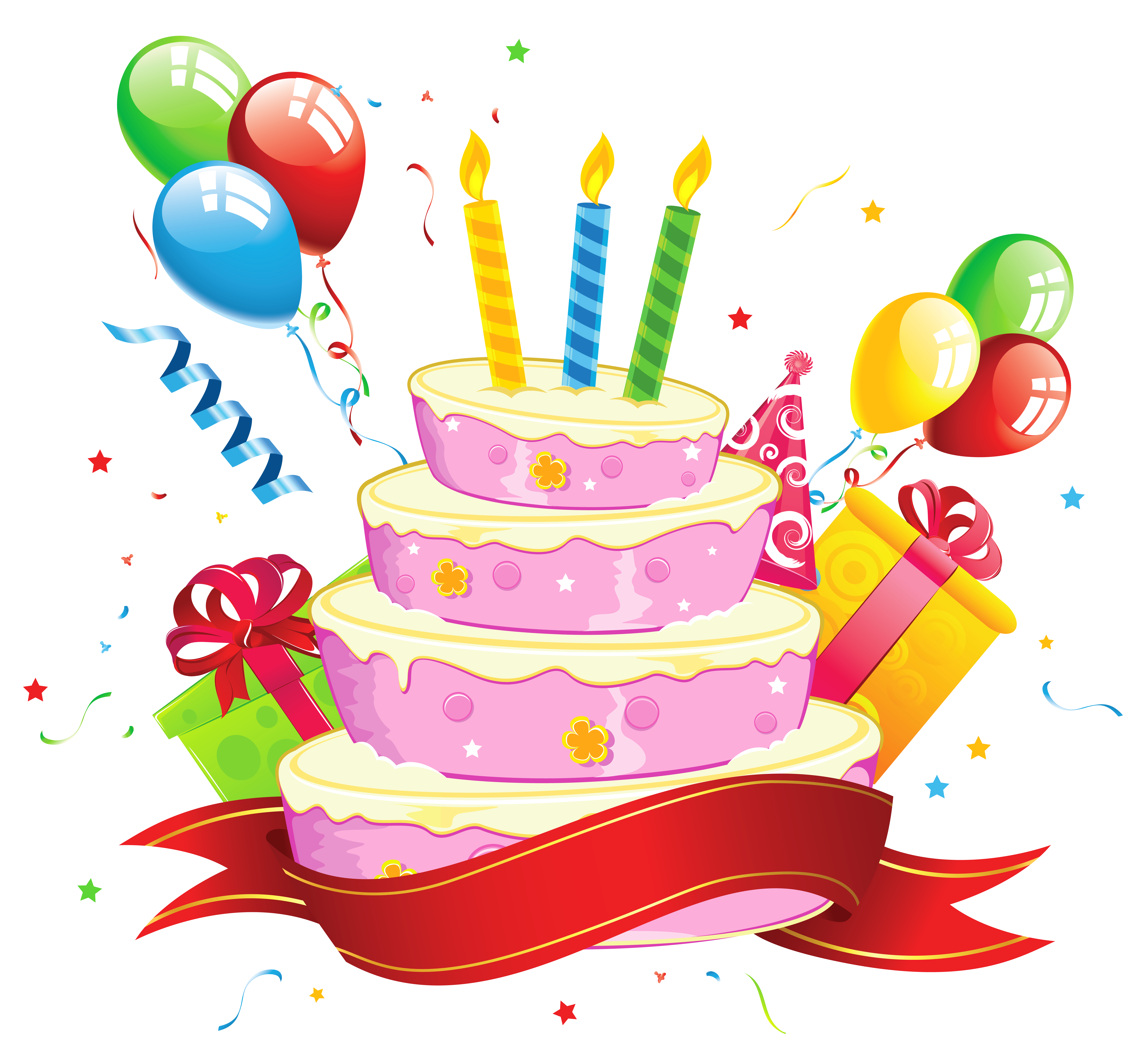 Birthday Cake Transparent Clipart.