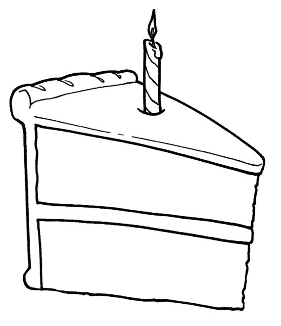 Free Birthday Cake Clip Art Black And White, Download Free Clip Art.