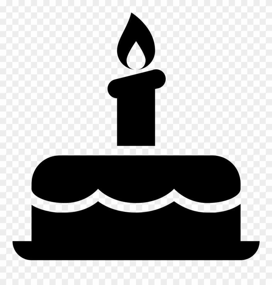 Png Black And White Stock Cake Svg Icon.