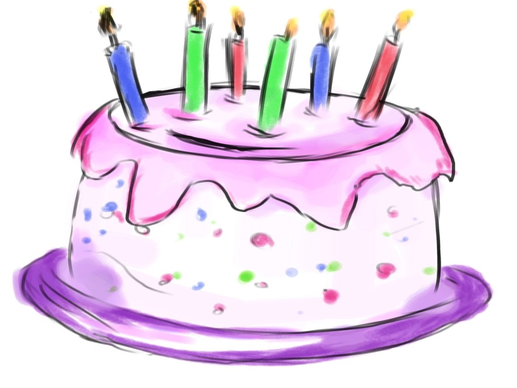 Happy birthday cake clip art photo for you wishes quotes cards.
