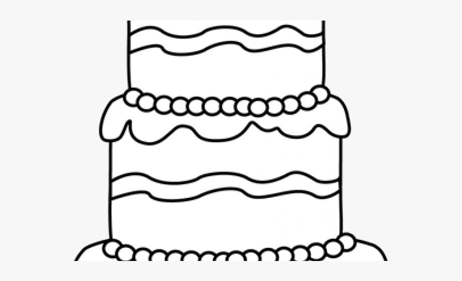 Birthday Cake Clipart Outline.