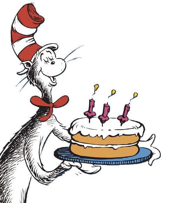 Dr Seuss Birthday Cake Clip Art.