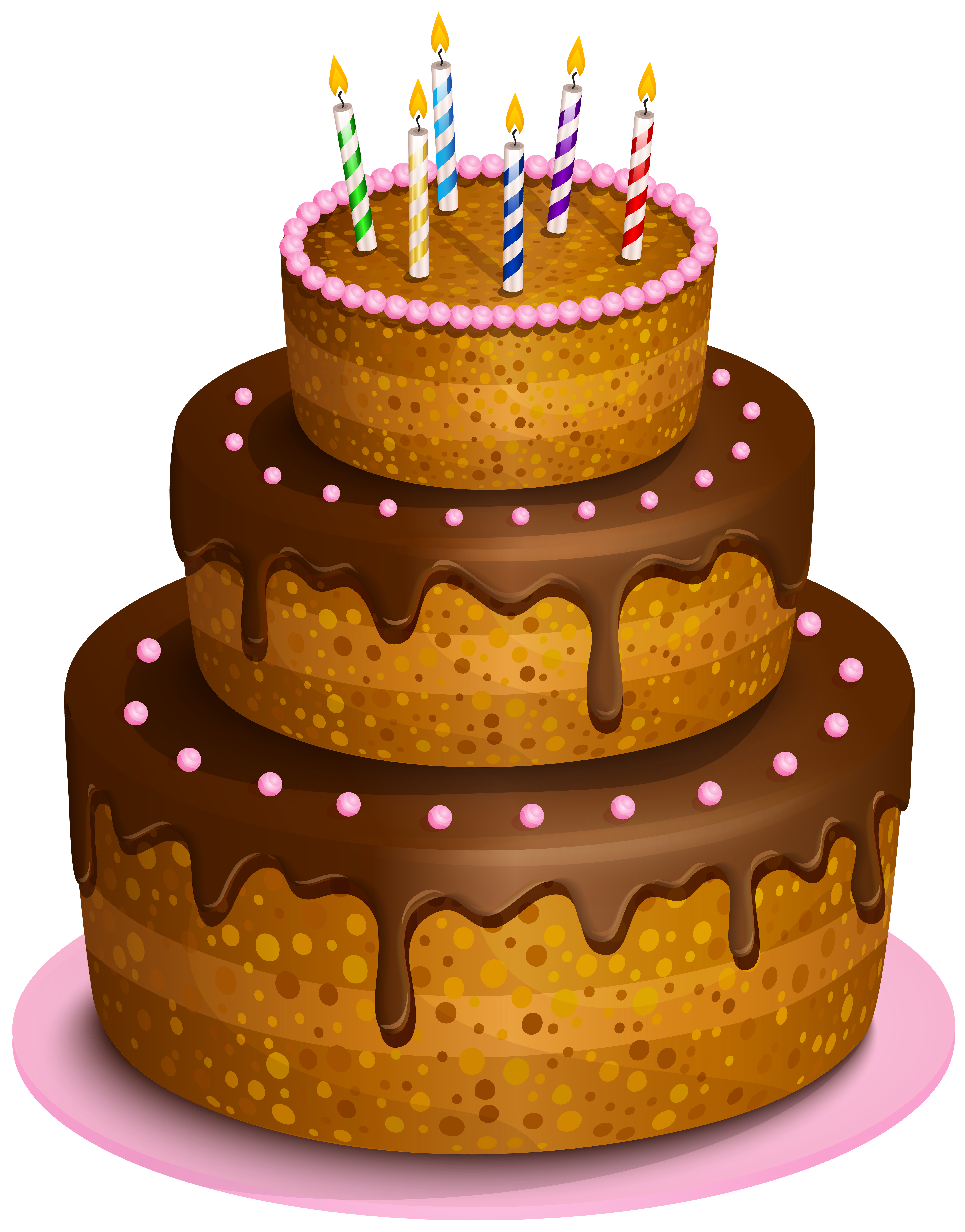 Birthday Cake Transparent PNG Clip Art Image.