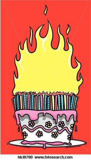 Fire cake.