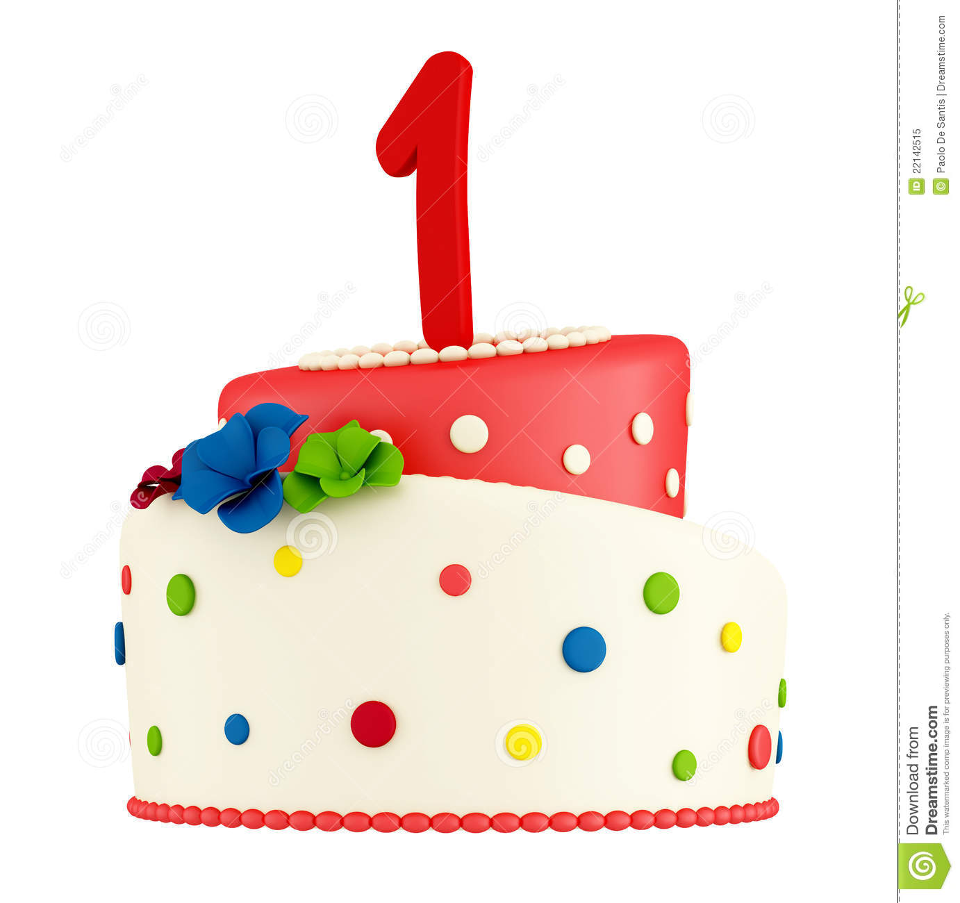 First Birthday Cake Royalty Free Stock Photo.