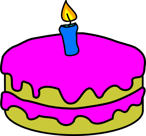 Birthday Cake One Candle Clip Art at Clker.com.