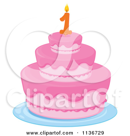 1 year cake clipart.