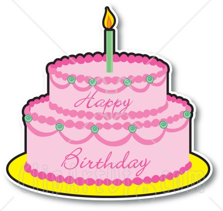 1st Birthday Cake Clipart