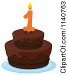 1 year old birthday cake clipart.