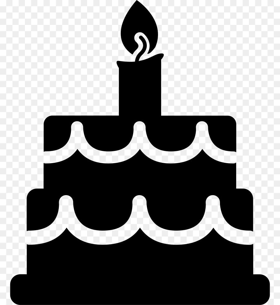 Birthday Cake Silhouette clipart.