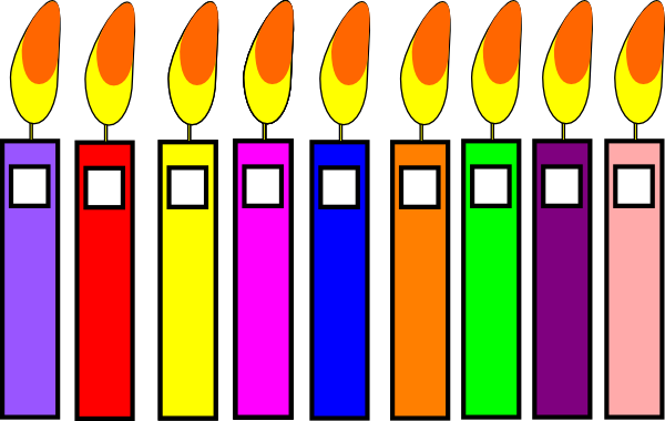 Birthday Candles Clip Art at Clker.com.