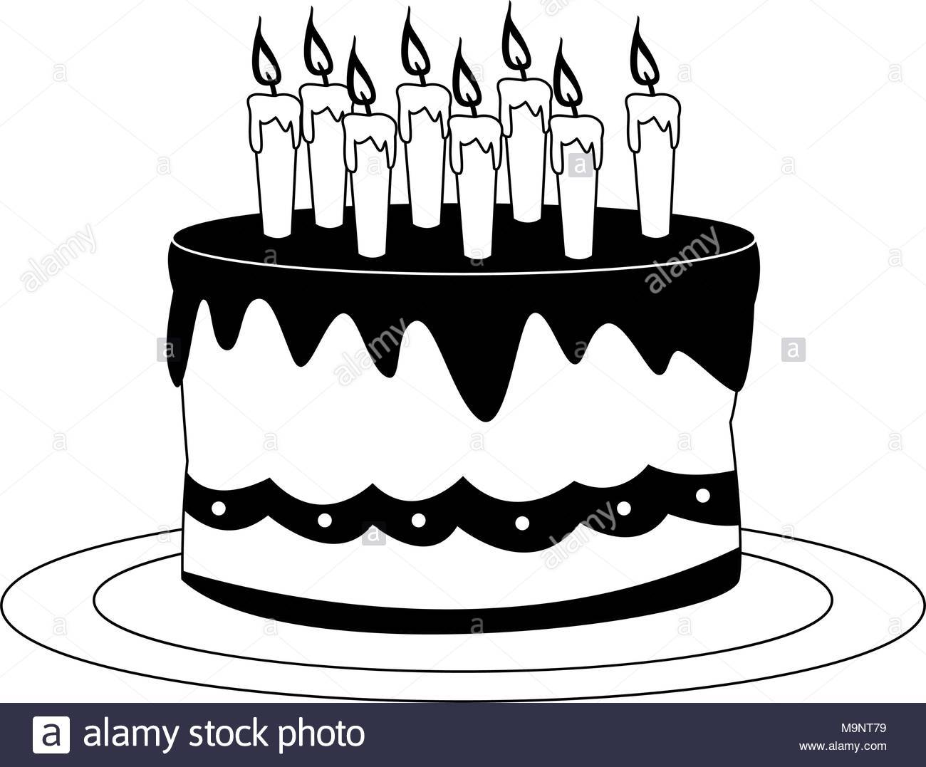Birthday candles clipart black and white 6 » Clipart Portal.