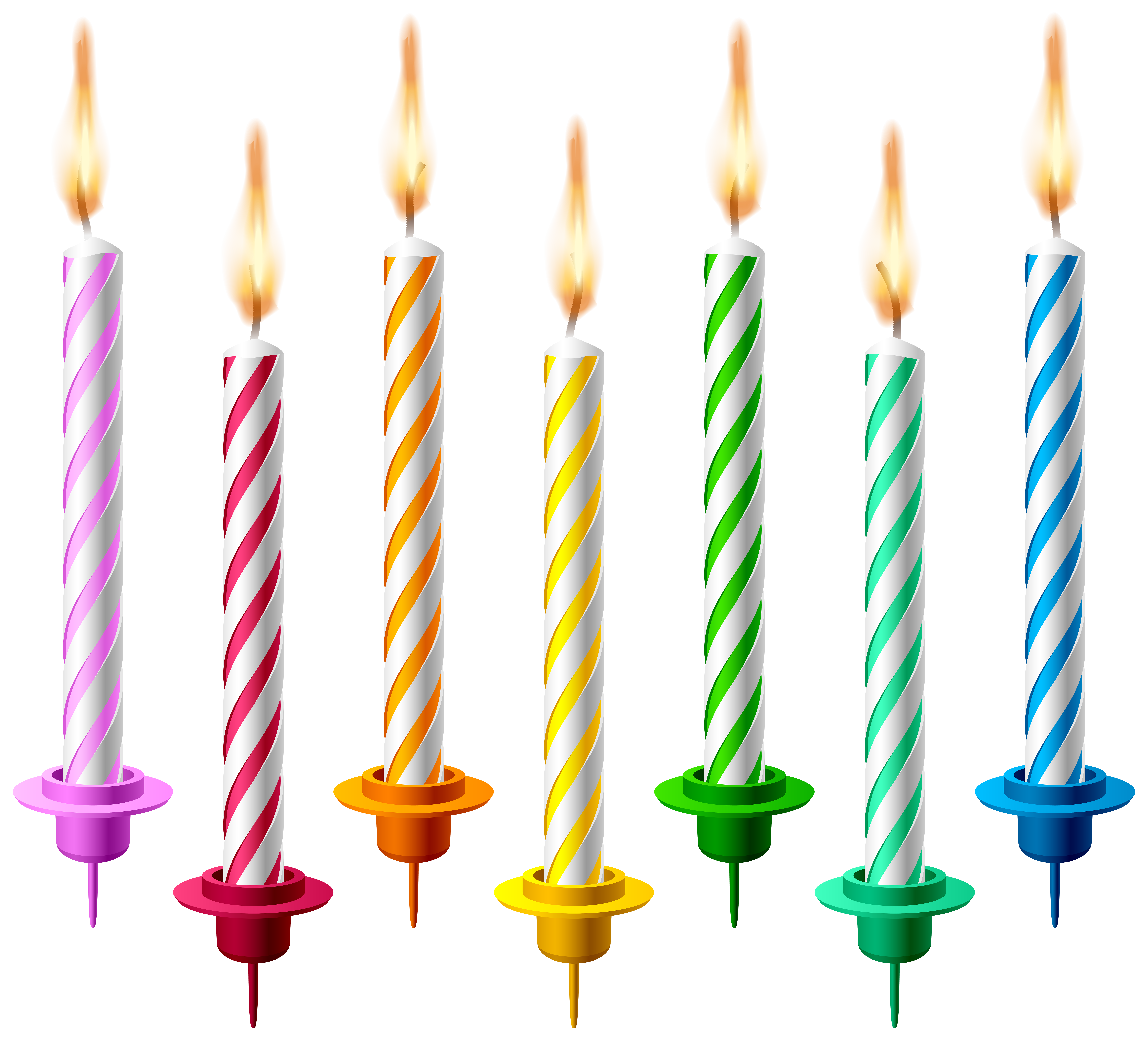 Clipart Birthday Candles.