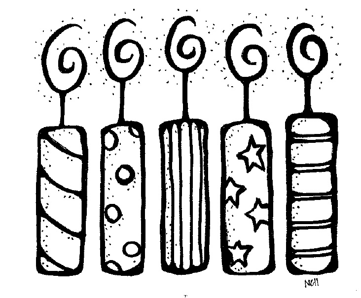 Birthday Candle Clipart Black And White.
