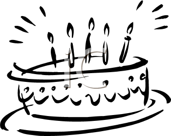 Birthday Candle Clip Art Black And White.