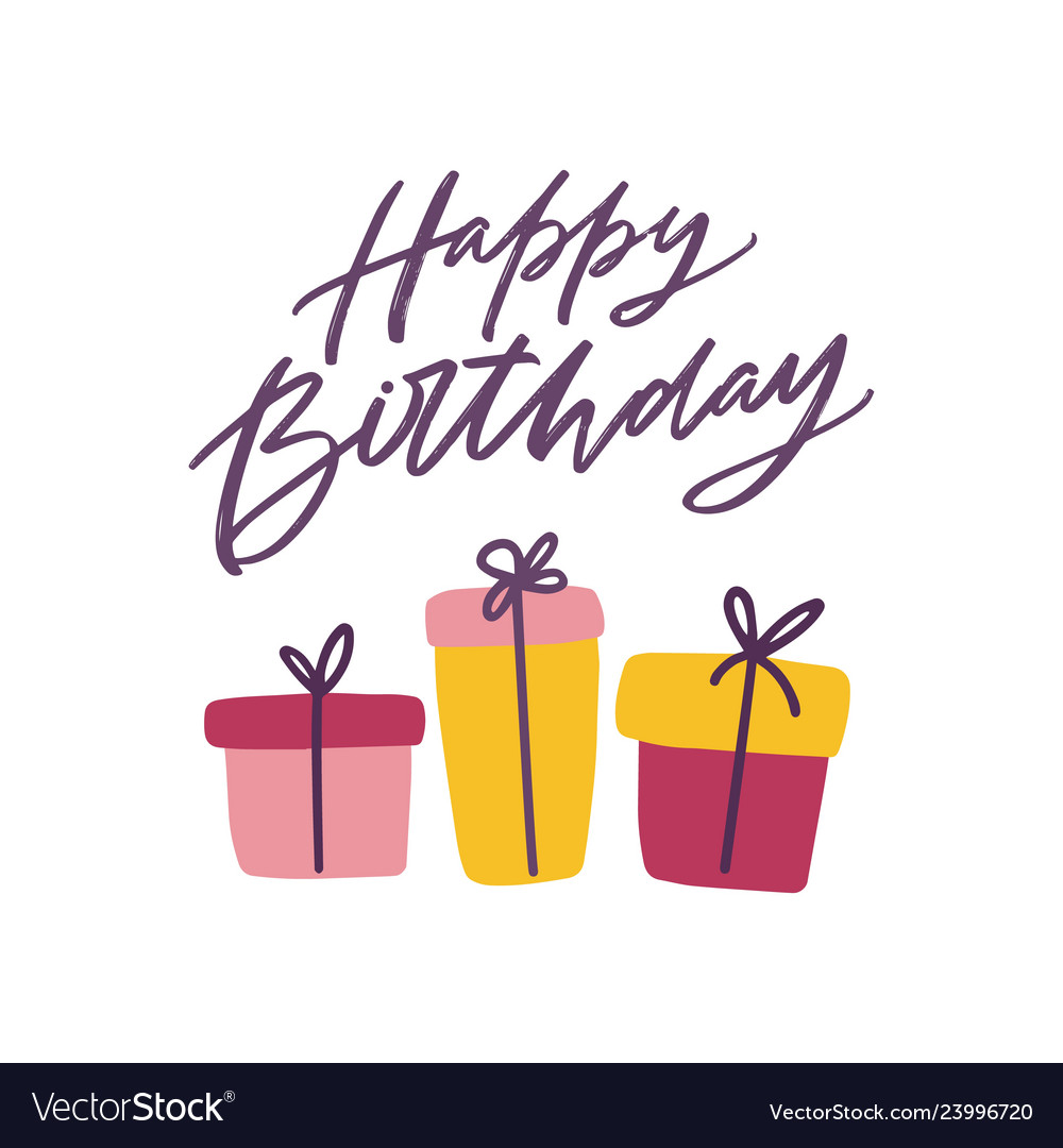Happy birthday greeting card template with festive.