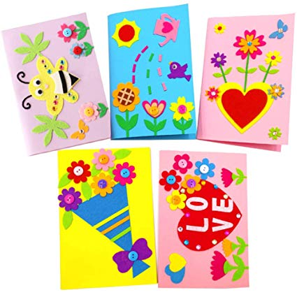 Card Making Kits for Kids, Yuccer Arts and Crafts for Girls Handmade Card  Kit Gift Cards for Birthday Mother\'s Day Christmas Make Your Own Greeting.
