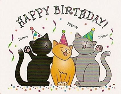 Happy Birthday Clipart With Cats.